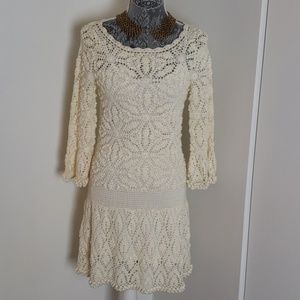 Vintage Sexy Knit Pullover Dress